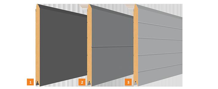 Przetłoczenia bram rozwiernych segmentowych
