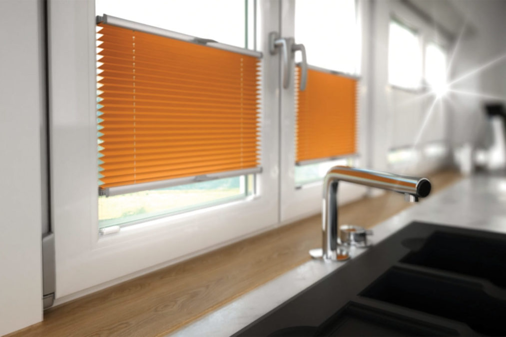 Rolety plisowane montowane do okna