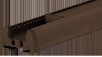 Brązowy RAL-8028 - kolor profilu rolety plisowanej