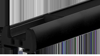 Czarny anodowany - kolor profilu rolety plisowanej