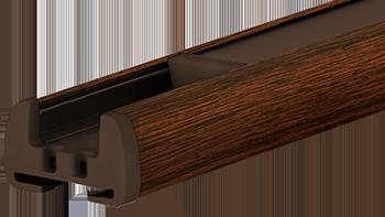 Dąb-bagienny - kolor profilu rolety plisowanej