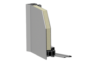 Panel drzwi zewnętrznych jednostronnie nakładkowych