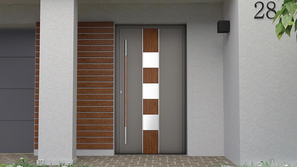 Nakładkowe drzwi aluminiowe