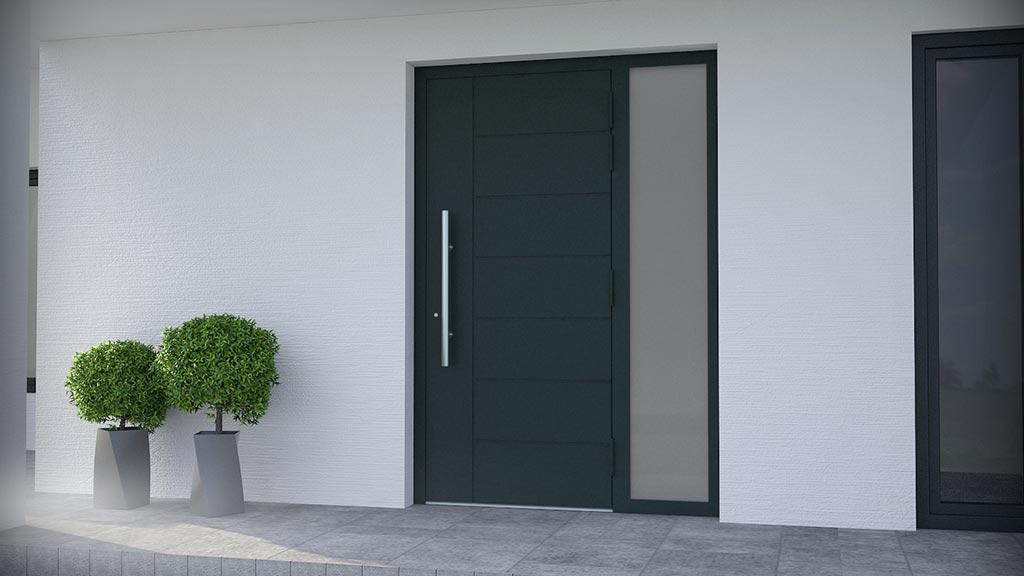 Drzwi aluminiowe z dostawką wzór NT-79N