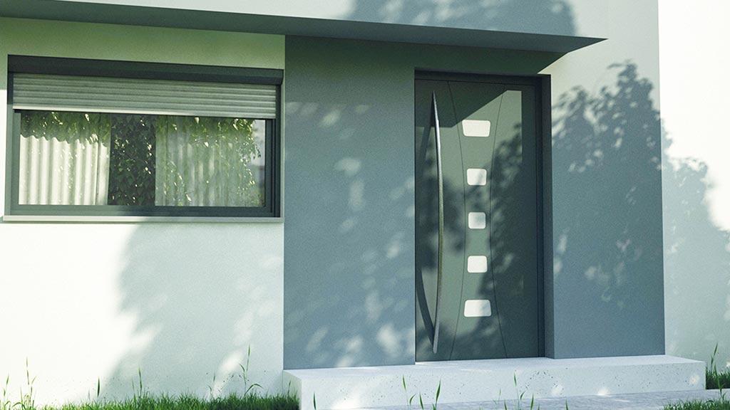 Drzwi aluminiowe nakładkowe wzór NT-80N