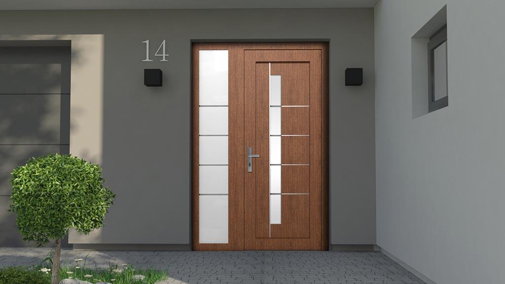 Drzwi zewnętrzne wsadowe z dostawką