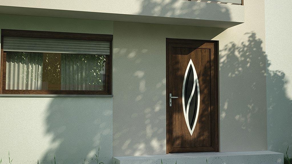 Drzwi wejściowe PVC do domu jednorodzinego