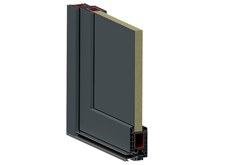 Drzwi zewnętrze z panelem wsadowym