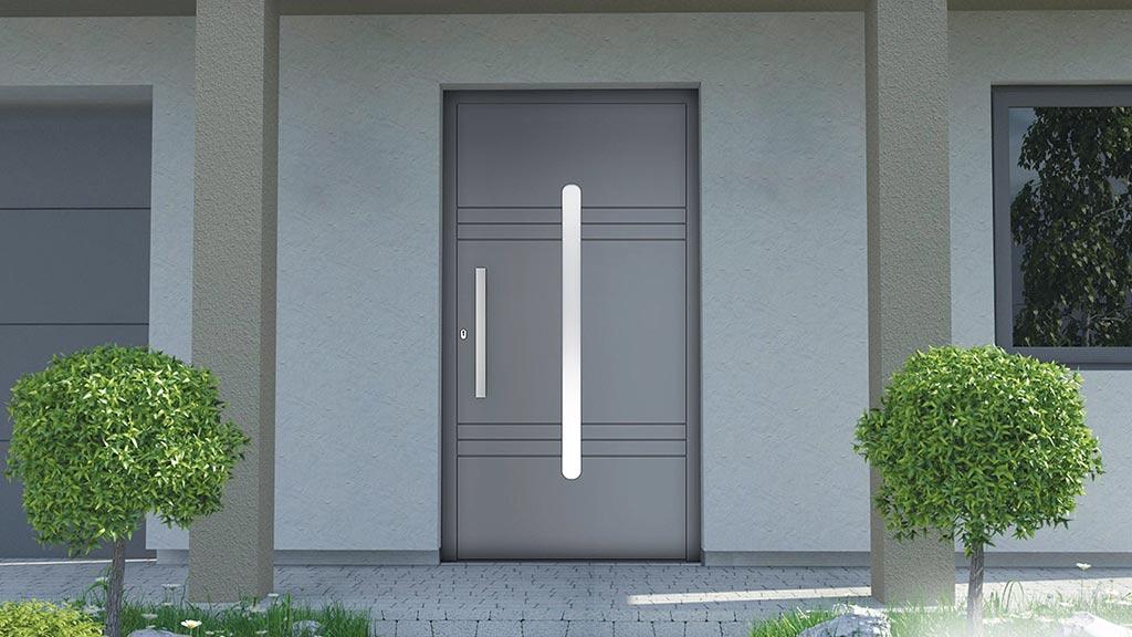 Drzwi zewnętrzne aluminiowe do domu jednorodzinnego