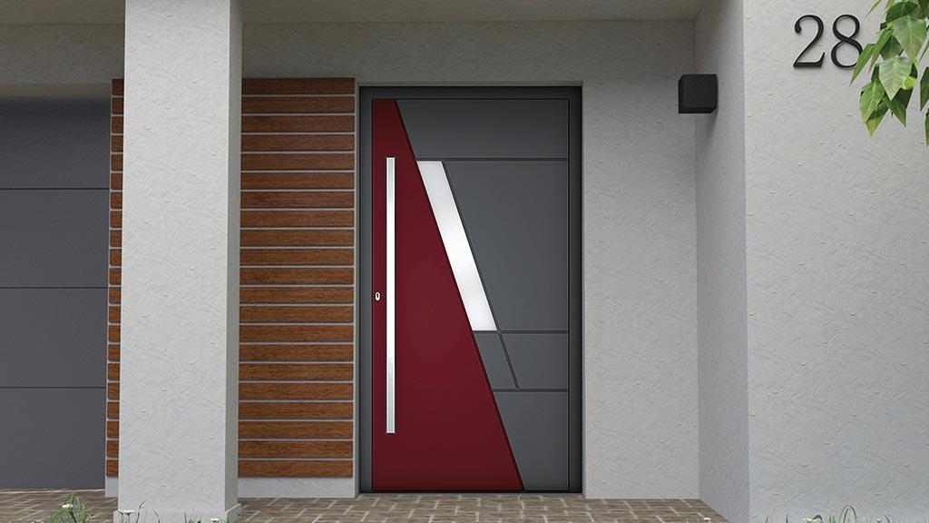 Drzwi aluminiowe zewnętrzne jednoskrzydłowe