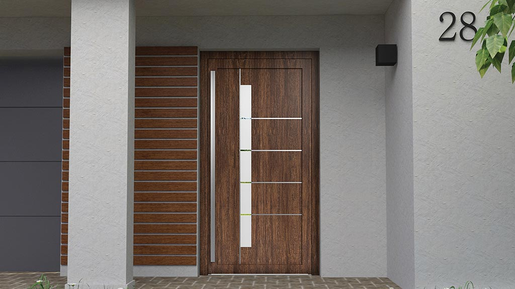 Drzwi wejściowe PVC do domu