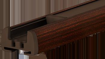 Mahoń - kolor profilu rolety plisowanej