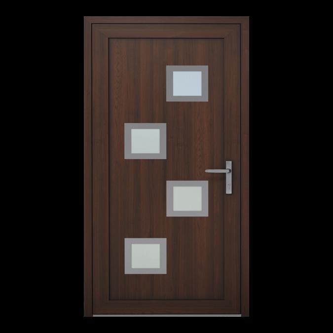 Drzwi zewnętrzne PVC wzór-NT-07W