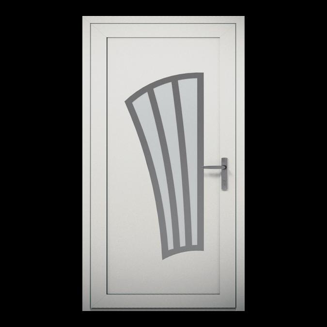 Drzwi zewnętrzne aluminiowe wzór-NT-10W