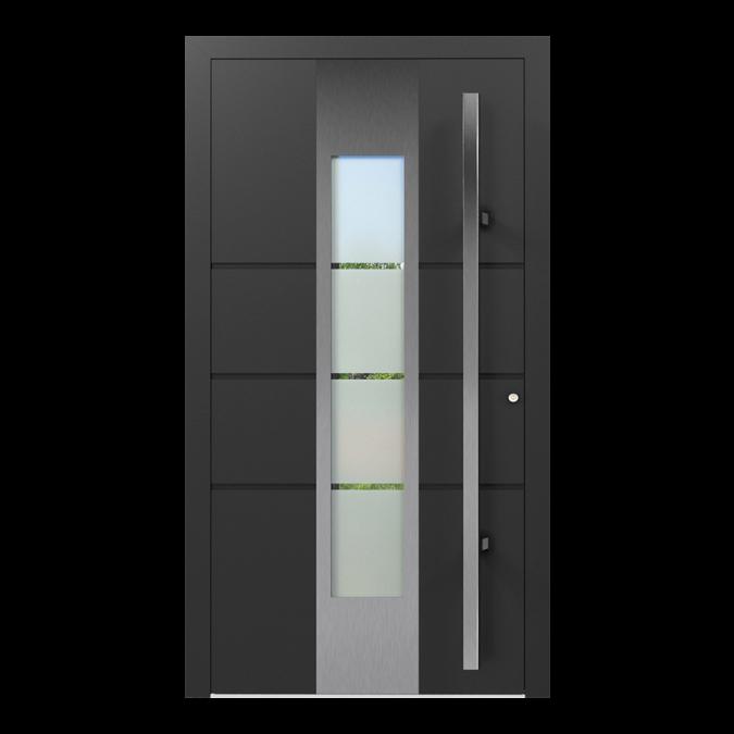Drzwi zewnętrzne aluminiowe wzór-NT-21N