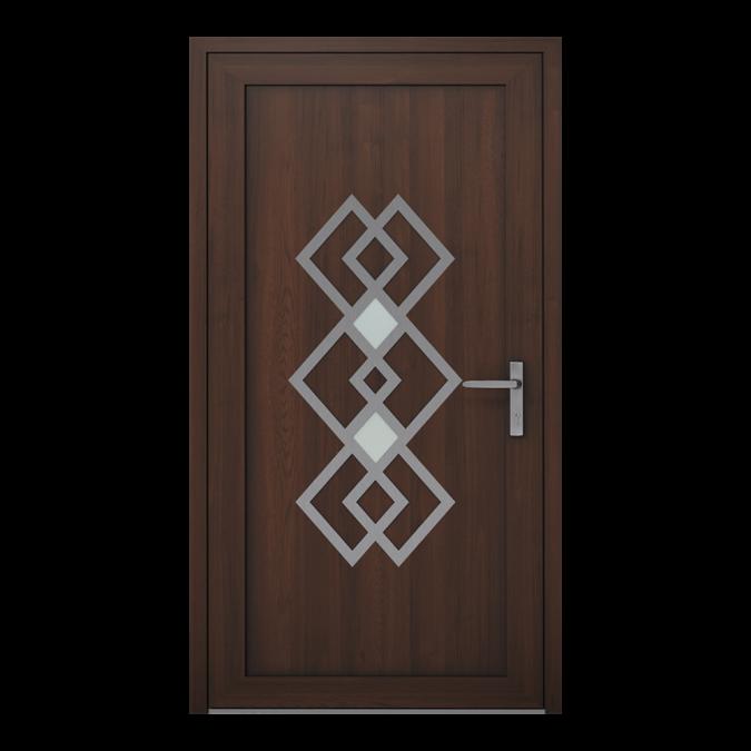 Drzwi zewnętrzne PVC wzór-NT-21W