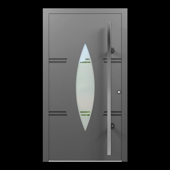 Drzwi zewnętrzne aluminiowe wzór-NT-59N