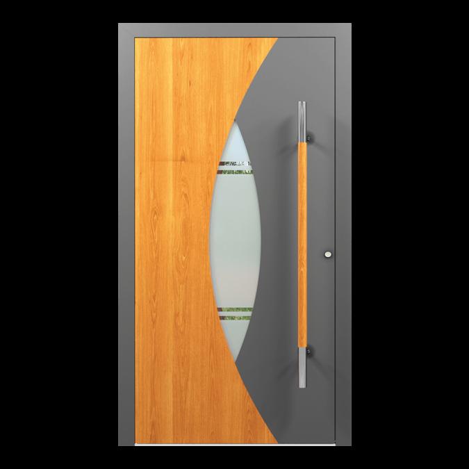 Drzwi zewnętrzne aluminiowe wzór-NT-61N