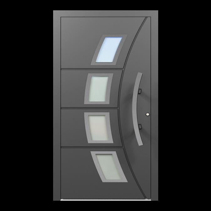 Drzwi zewnętrzne aluminiowe wzór-NT-65N