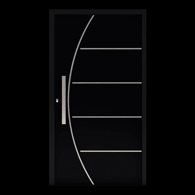 Drzwi zewnętrzne aluminiowe wzór-NT-70N