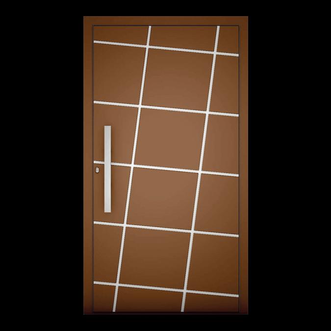 Drzwi zewnętrzne aluminiowe wzór-NT-71N