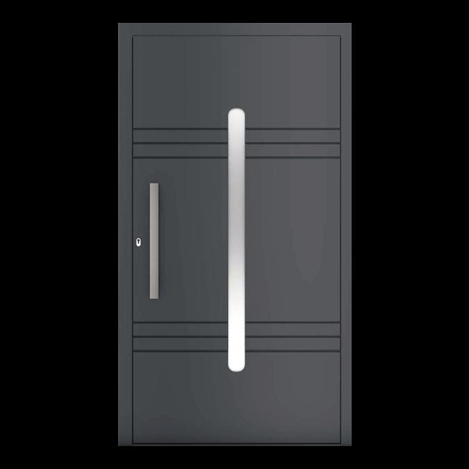 Drzwi zewnętrzne aluminiowe wzór-NT-72N