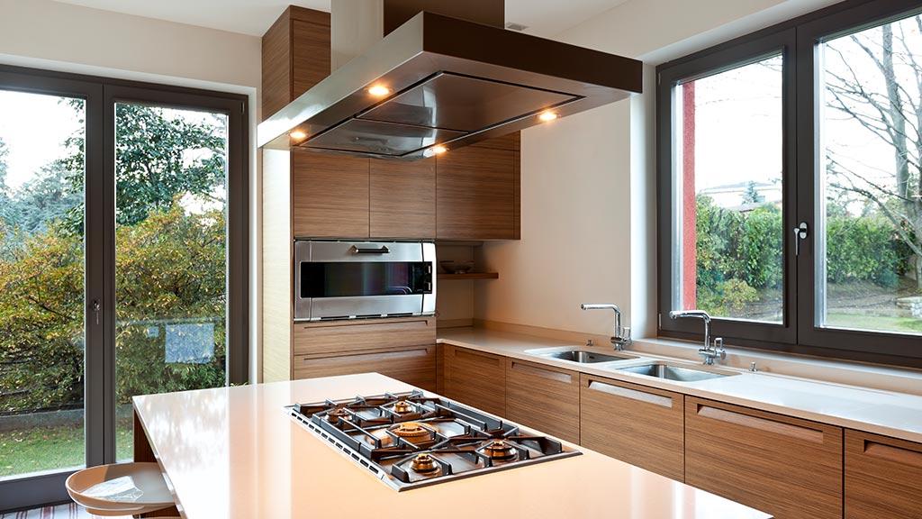 Okna aluminiowe w kuchni