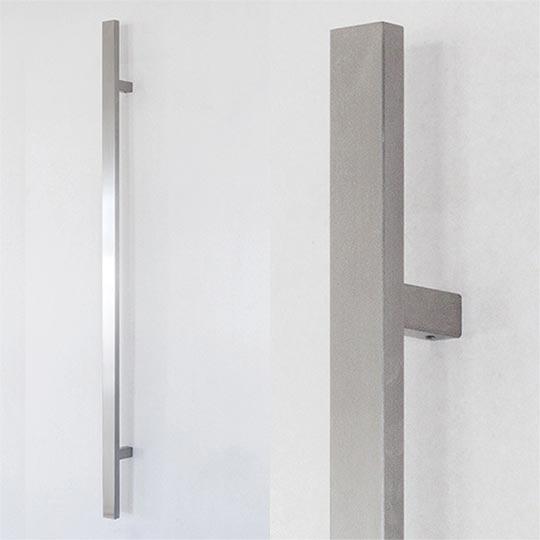 Pochwyt kwadratowy do drzwi zewnętrznych aluminiowych