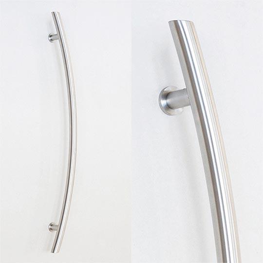 Pochwyt łuk okrągły do drzwi zewnętrznych aluminiowych