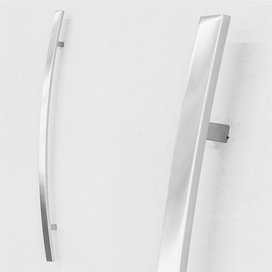 Pochwyt łuk prostokątny do drzwi zewnętrznych aluminiowych