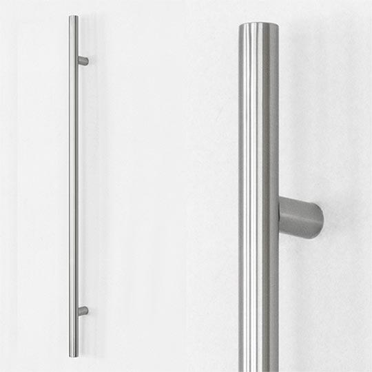 Pochwyt okrągły do drzwi zewnętrznych aluminiowych