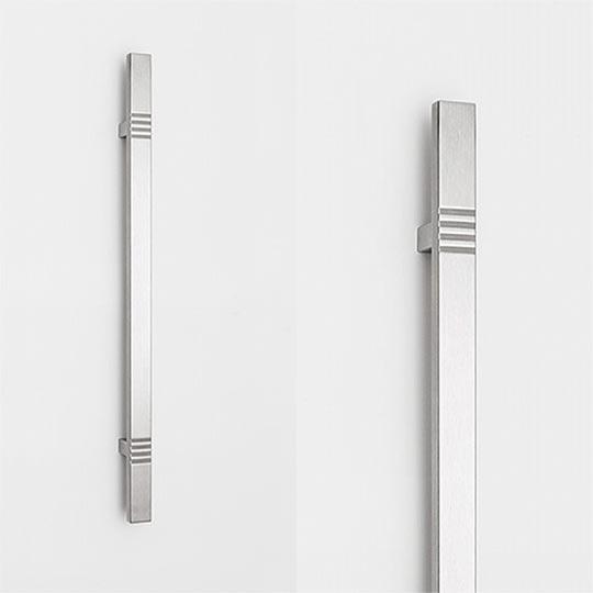 Pochwyt prostokątny prosty do drzwi zewnętrznych aluminiowych