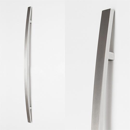 Pochwyt wypukły prostokątny do drzwi zewnętrznych aluminiowych