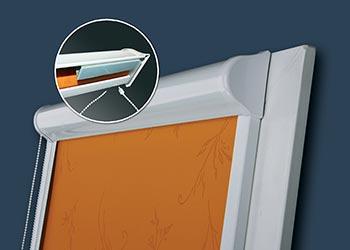 Roleta wewnętrzna w kasecie aluminiowej Vegas profil