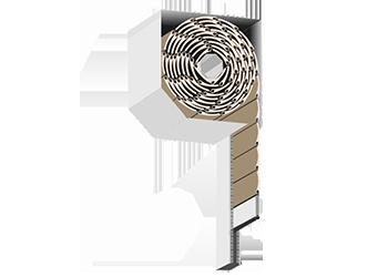 Standardowa skrzynka rolety zewnętrznej adaptacyjnej