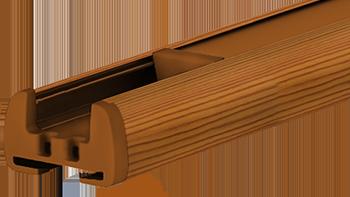 Sosna - kolor profilu rolety plisowanej