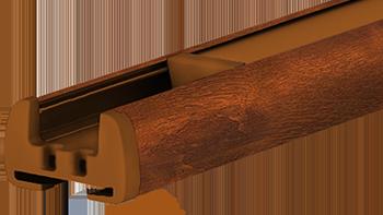 Złoty dąb - kolor profilu rolety plisowanej