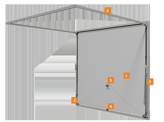Konstrukcja bramy uchylej