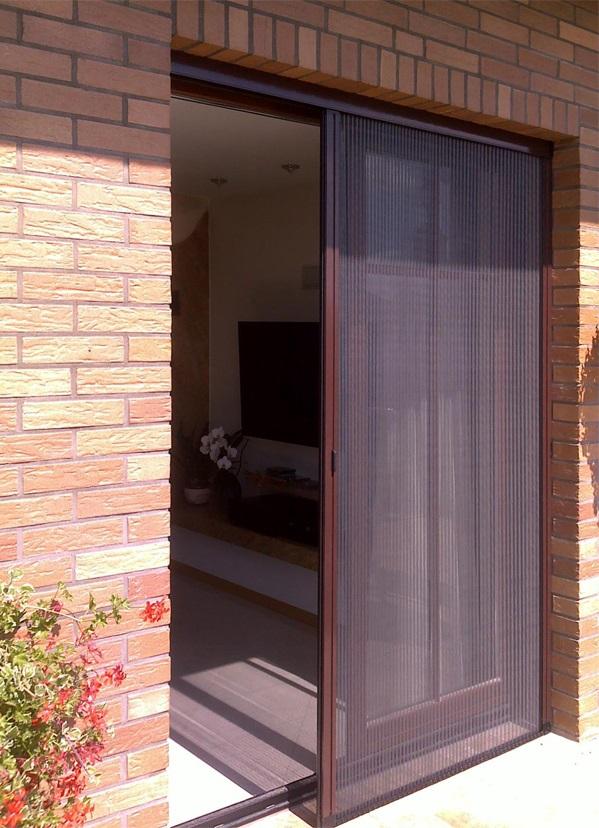 Moskitiera plisowana do okna tarasowego