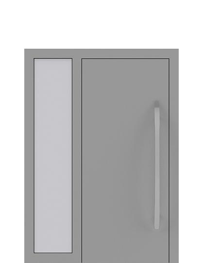 Drzwi zewnętrzne jednoskrzydłowe z dostawką po lewej stronie