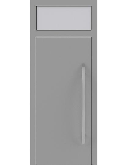 Drzwi zewnętrzne jednoskrzydłowe z naświetlem
