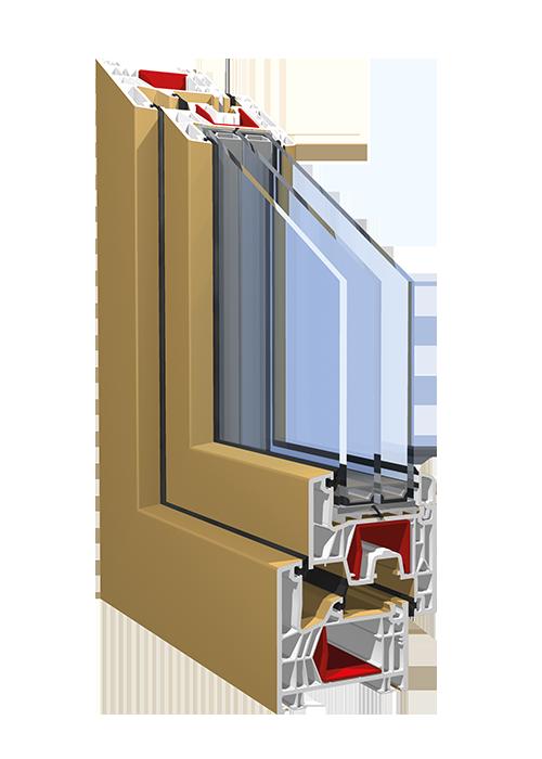 Okna PVC profil KBE 76MD