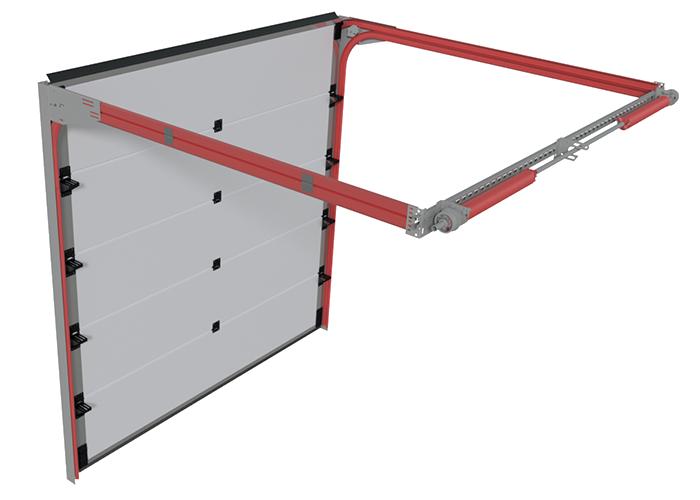 Prowadzenie niski tył w bramie segmentowej garażowej