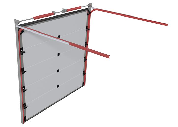 Prowadzenie standardowe bramy segmentowej garażowej