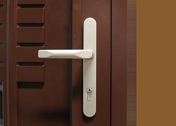 Drzwi aluminiowe z klamką ze stali nierdzewnej