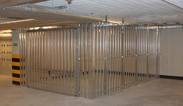 Komórki lokatorskie w garażach podziemnych