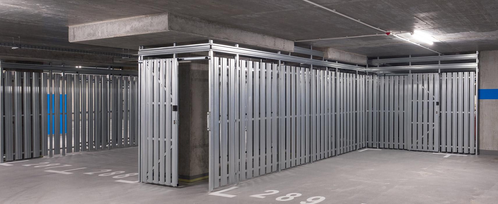 Zabudowa komórek lokatorskich w garażach podziemnych