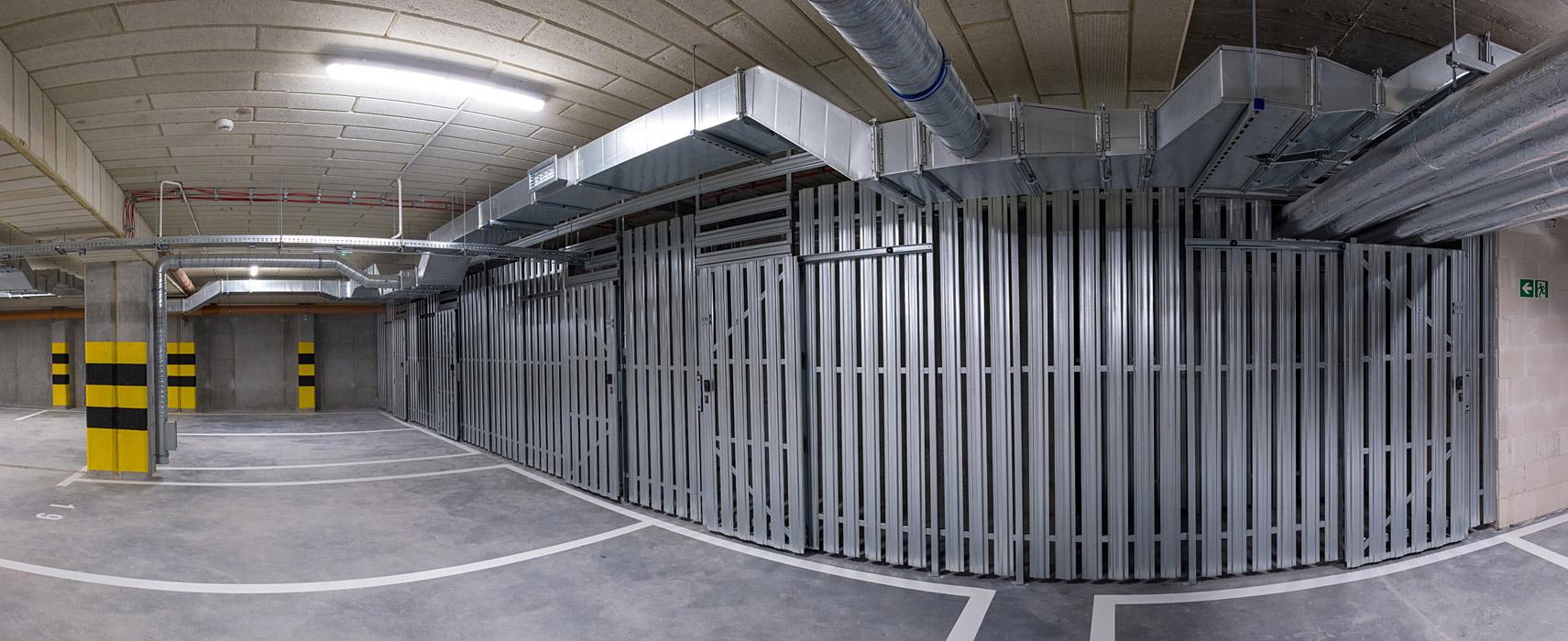 Zabudowa komórek lokatorskich w piwnicach