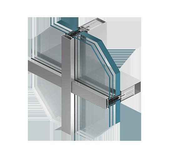 Aluminium-Brandschutzfassaden