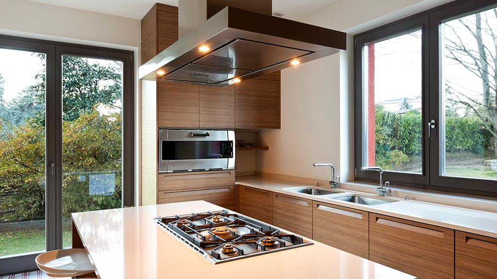 Aluminiumfenster in der Küche